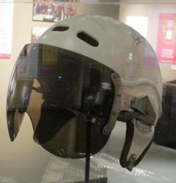 Cosmonaut helmet.